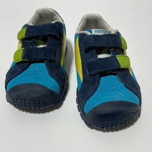 Reebok Classic Blue Two Tone Colourful Infant Baby Sneakers Sz 4